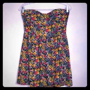 Strapless Flower Dress
